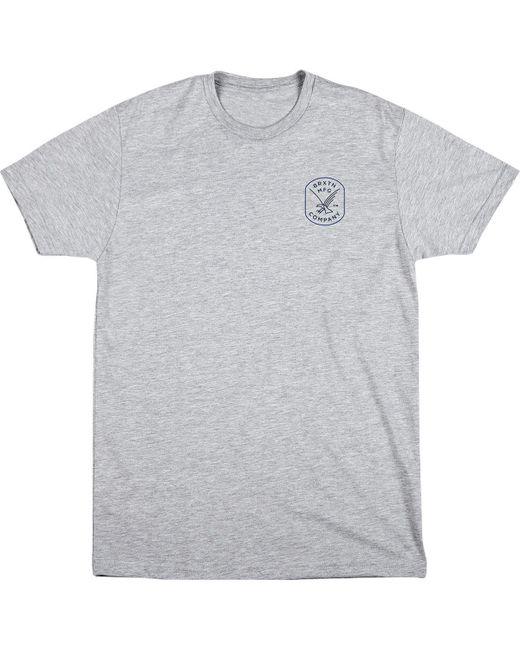 Brixton - Gray Carrier T-shirt for Men - Lyst