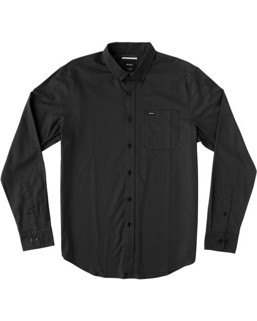 RVCA - Black That'll Do Oxford Long-sleeve Shirt for Men - Lyst
