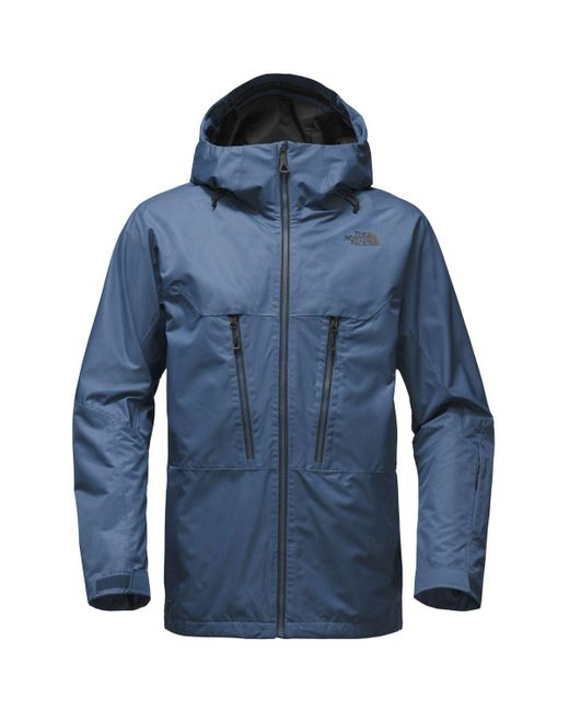 The North Face | Blue Thermoball Snow Triclimate Hooded Jacket for Men | Lyst
