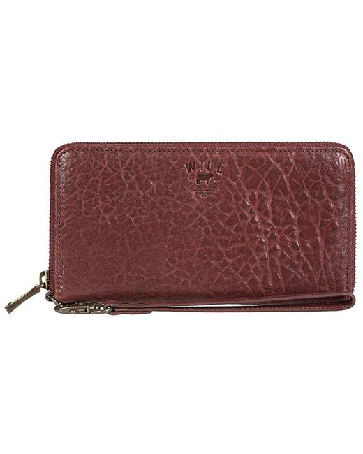 Will Leather Goods - Red Alix Zip Around Clutch - Lyst
