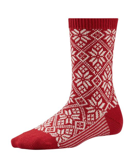 Smartwool - Red Traditional Snowflake Sock - Lyst