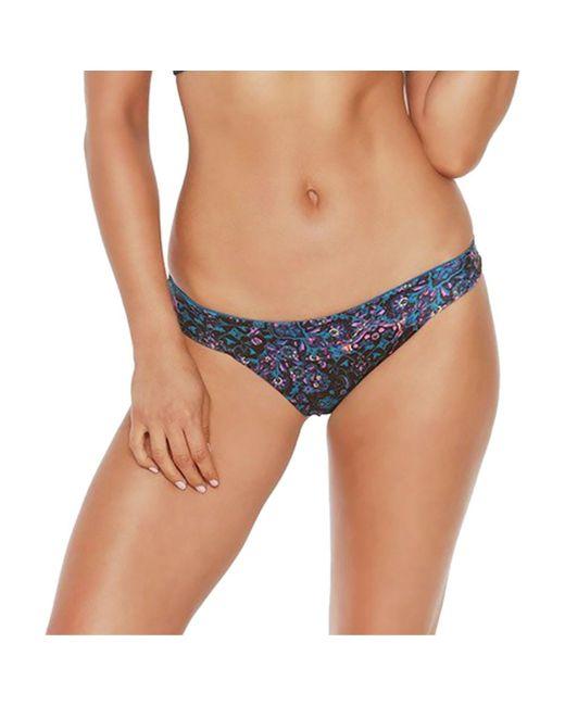 L*Space - Blue Veronica Printed Bikini Bottom - Lyst