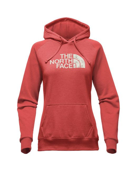 The North Face - Red Half Dome Hoodie - Lyst