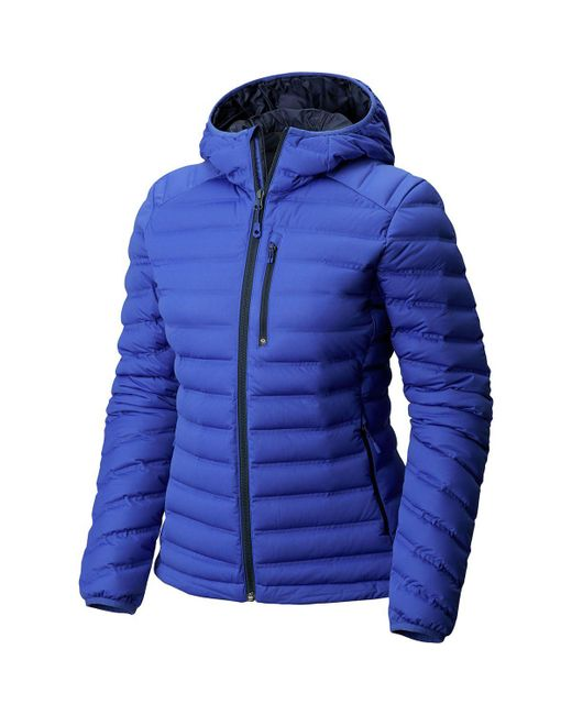 Mountain Hardwear - Blue Stretchdown Hooded Down Jacket - Lyst