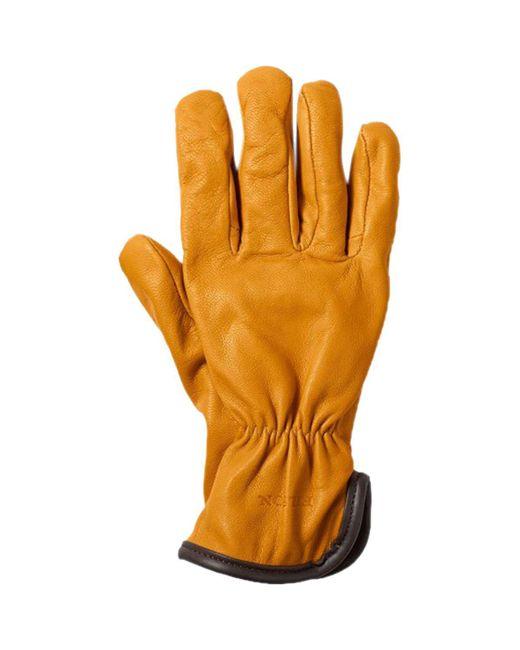 Filson - Orange Original Wool Lined Goatskin Glove for Men - Lyst