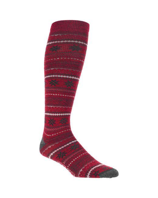 Woolrich - Red Novelty Merino Knee Hi Snowflake Sock - Lyst