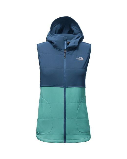 The North Face - Blue Mountain Sweatshirt Hooded Vest - Lyst