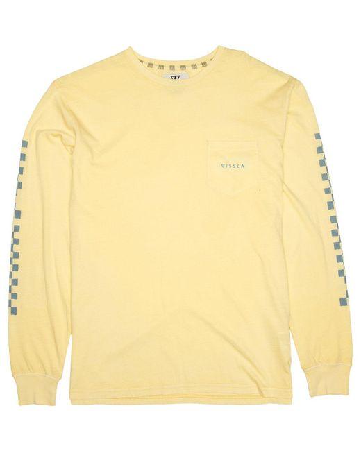 53dc3889d9 Lyst - Vissla Variel Long-sleeve Pocket Shirt in Yellow for Men