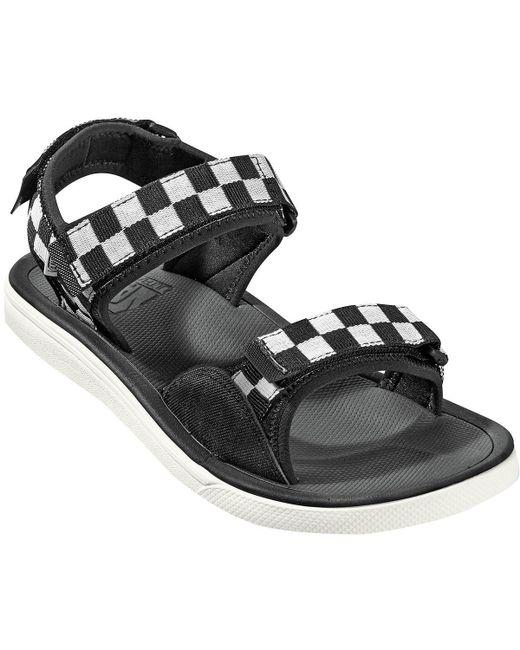 24b597a8e1 Lyst - Vans Checker Ultrarange Tri-lock Sandals in Black for Men ...