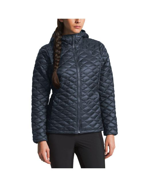 caf667f1e8bf Lyst - The North Face Thermoball Hooded Insulated Jacket in Blue