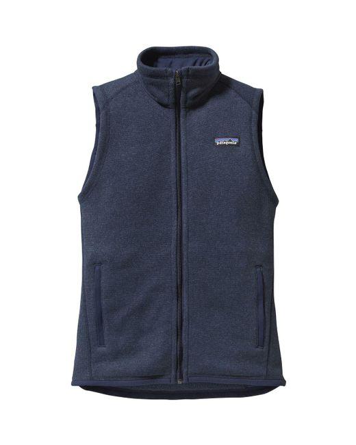 Patagonia - Blue Better Sweater Fleece Vest - Lyst