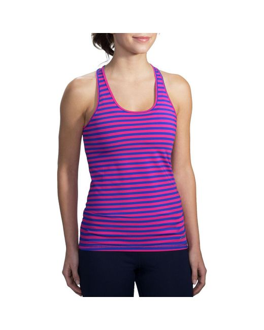 Brooks - Purple Pick-up Tank Top - Lyst