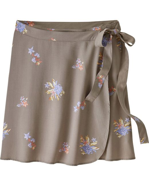 Patagonia - Gray June Lake Skirt - Lyst