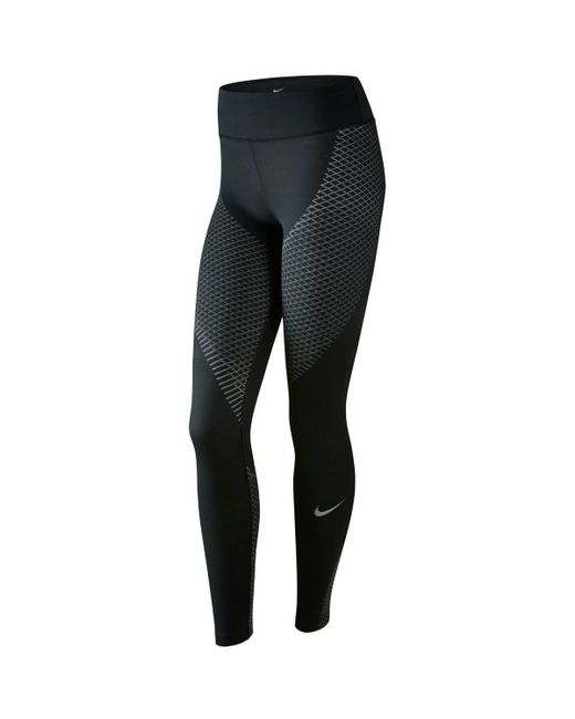 Nike | Black Zonal Strength Running Tights | Lyst