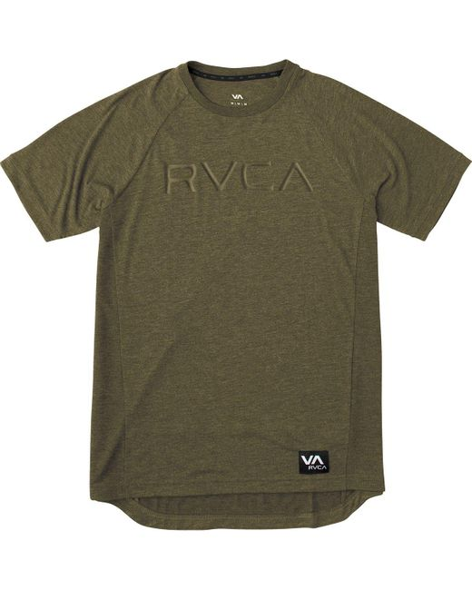 RVCA | Green Runner T-shirt for Men | Lyst