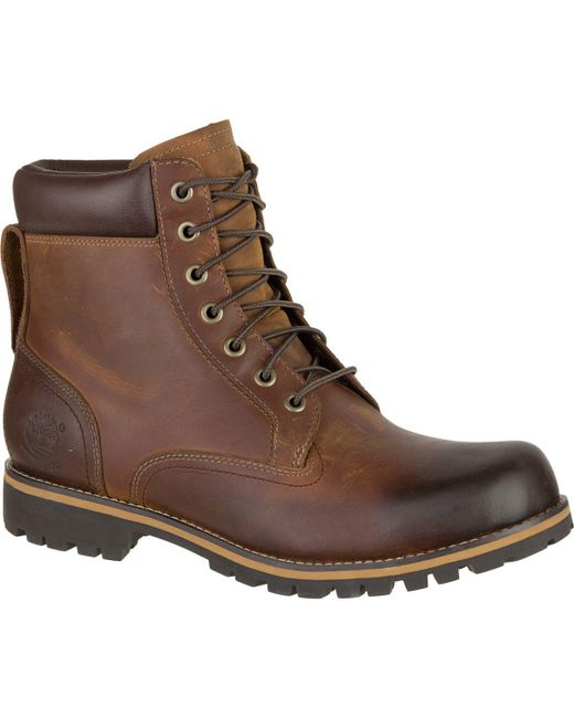 Timberland | Brown Earthkeepers Rugged Waterproof 6in Plain Toe Boot for Men | Lyst