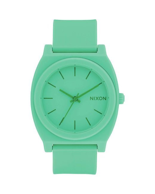 Nixon - Green Time Teller P Watch - Lyst