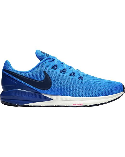 cbecadcf3d2 Lyst - Nike Air Zoom Structure 22 Running Shoe in Blue for Men