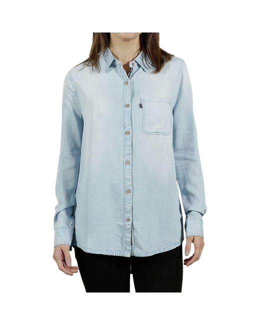 Tentree - Blue Fernie Long-sleeve Button Up Shirt - Lyst