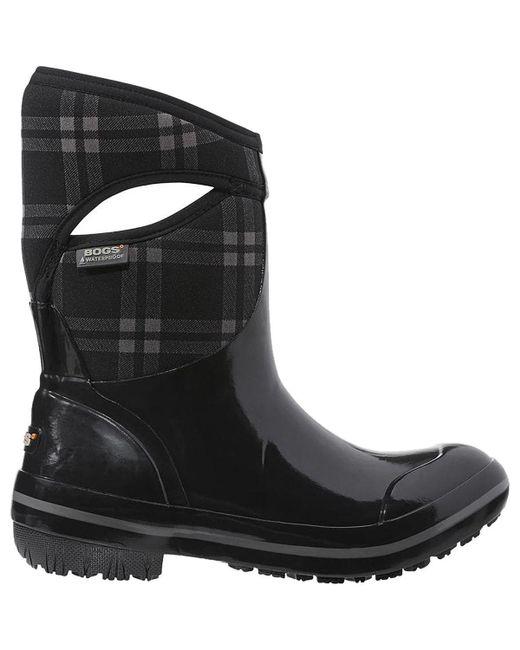 Bogs - Black Plimsoll Plaid Mid Boot - Lyst