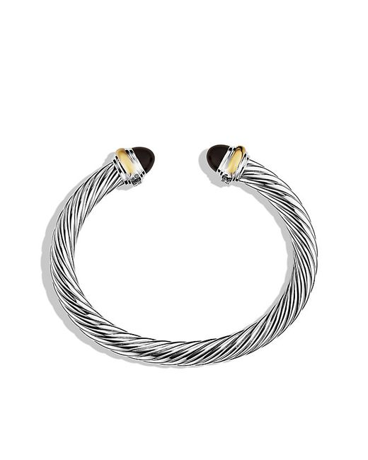 David Yurman | Cable Classics Bracelet With Black Onyx & Gold | Lyst