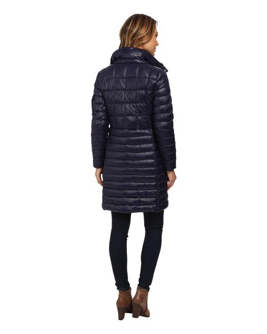 Lauren by Ralph Lauren | Blue Multi Quilt W/ Removable Hood | Lyst