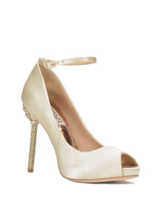 badgley mischka diego embellished heel evening shoe in