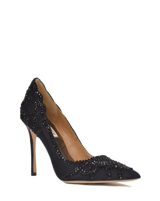 Badgley Mischka | Brown Rouge Embellished Evening Shoe | Lyst