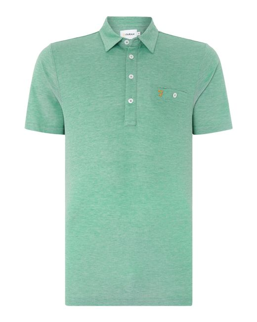 Farah | Green Tennyson Regular Fit Mercerised Cotton Polo Shirt for Men | Lyst