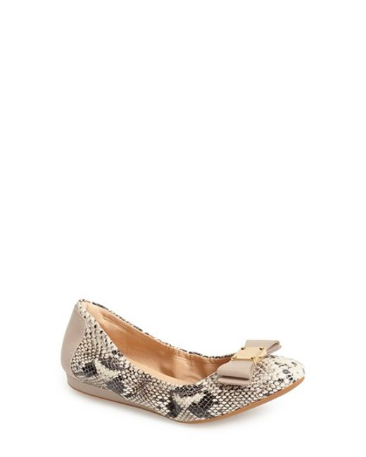 Cole Haan Tali Bow Ballet Flat In Natural Lyst