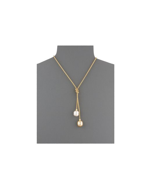 Majorica | Metallic 14mm Love Know Lariat Necklace | Lyst