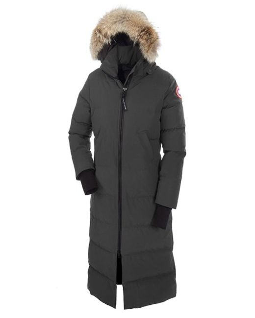 Canada Goose | Gray 'mystique' Regular Fit Down Parka With Genuine Coyote Fur Trim | Lyst