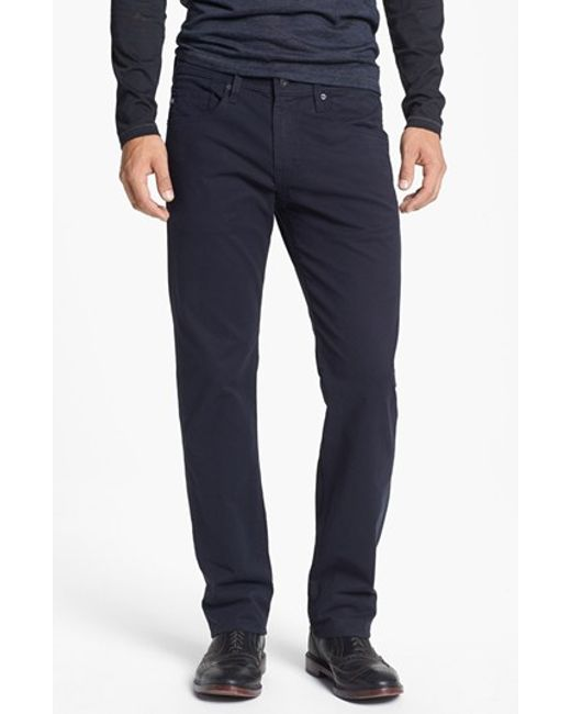 AG Jeans | Blue 'matchbox Bes' Slim Fit Pants for Men | Lyst