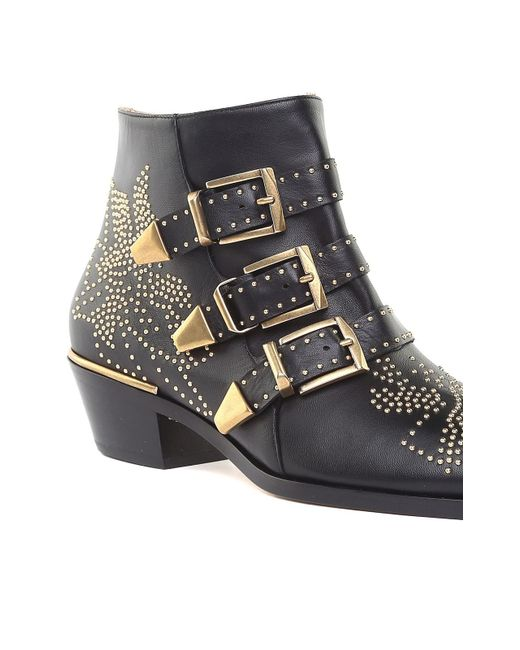 6b4473078f18 ... Chloé - Multicolor Susanna Studded Leather Ankle Boots - Lyst