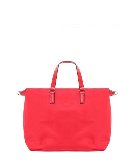 a8ff1d0979f ... Tory Burch - Red Tilda Slouchy Nylon Shoulder Bag - Lyst ...