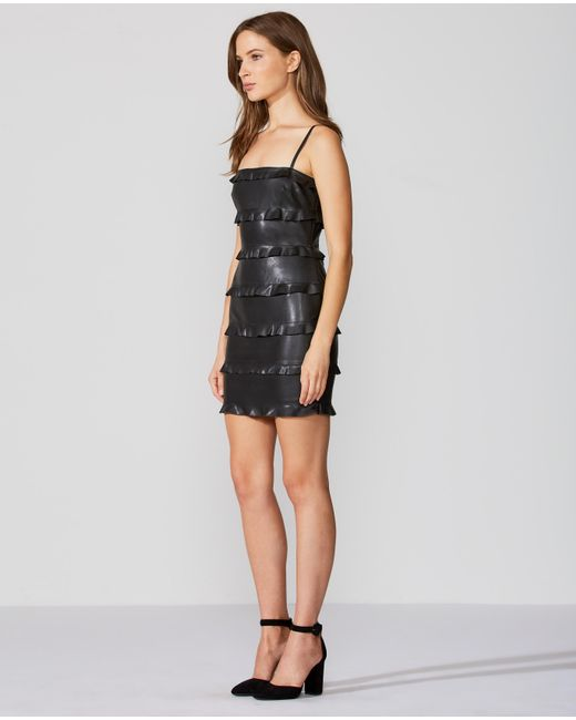 Bailey 44 black jersey and lace sleeveless mini dress