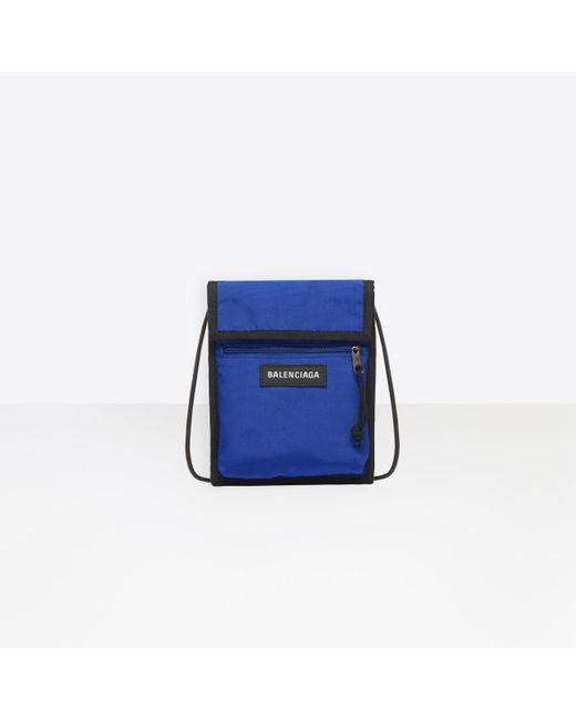 92f2c435445b Balenciaga - Blue Explorer Pouch Strap Nylon for Men - Lyst ...