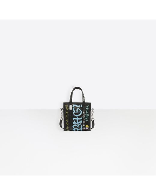 6596e6f22 Balenciaga Bazar Shopper Xxs Graffiti in Black - Save 7% - Lyst