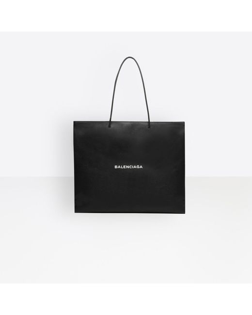 Balenciaga - Black Shopping Bag East-west L for Men - Lyst
