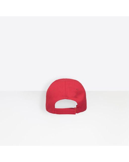 1dfbeca74a9 ... Lyst Balenciaga - Red Cap