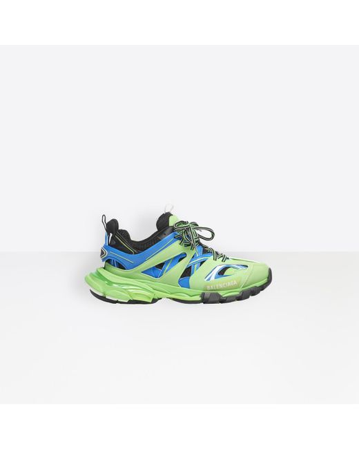 Balenciaga - Green Track Trainers - Lyst
