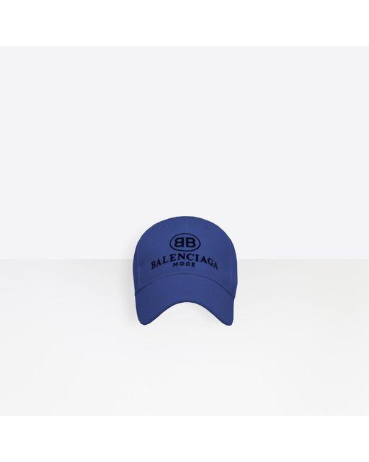 59c9d3f7a1b Balenciaga - Blue Bb Mode Cap for Men - Lyst ...