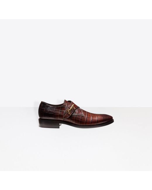 Balenciaga - Brown Derbies monkstrap City Evening for Men - Lyst