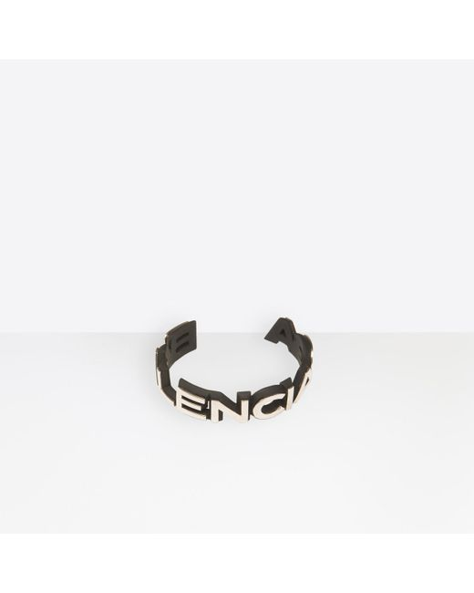 Balenciaga - Metallic Badge Bracelet - Lyst