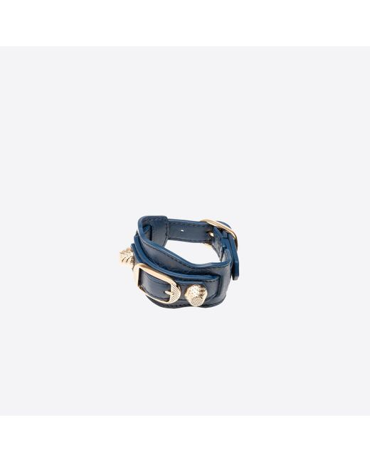 Balenciaga | Blue Giant Gold Bracelet | Lyst