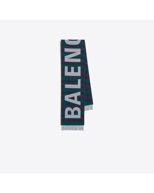 Balenciaga - Blue Scarf - Lyst