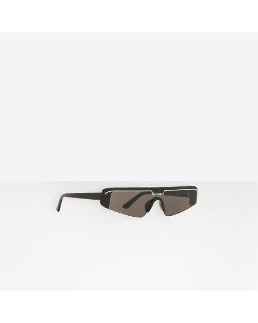 Balenciaga - Black Gafas de sol Ski Rectangle for Men - Lyst