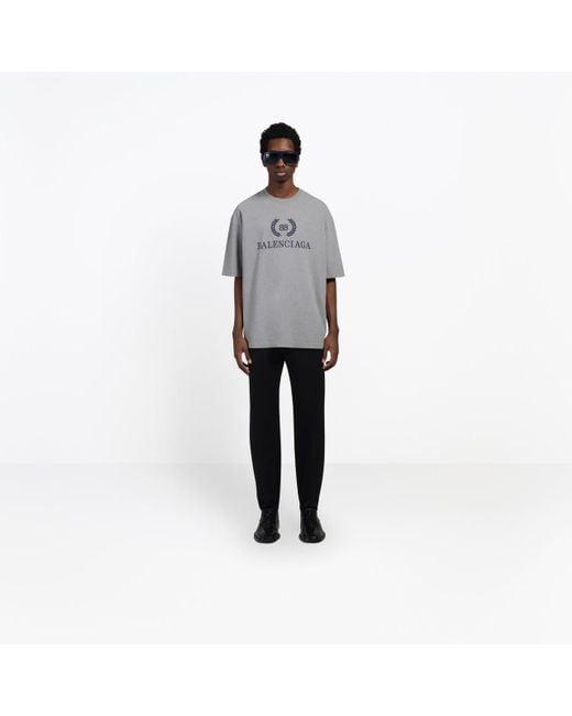 2d14201a24f8 ... Balenciaga - Gray Bb Print T-shirt for Men - Lyst ...