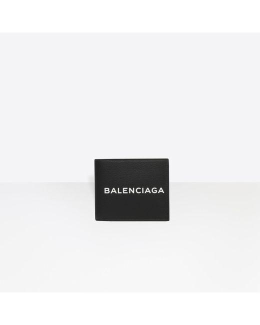 Balenciaga - Black Shopping Square Wallet for Men - Lyst