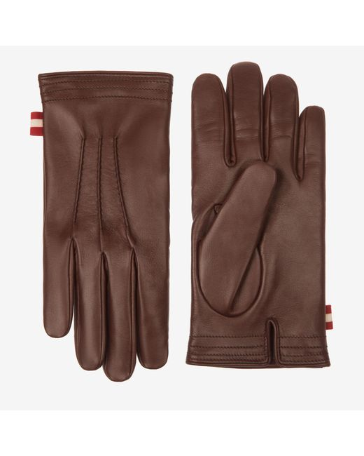 Bally Brown Leather Gloves